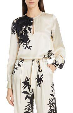 Women's Equipment Delainey Floral Blouse, Size Medium - Black
