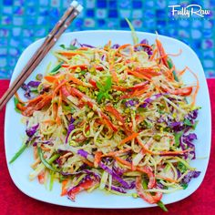 Fully Raw Pad Thai Repinned by www.eatloveraw.com - Dairy-Free, Soy-Free Gluten-Free Raw Energy Bars