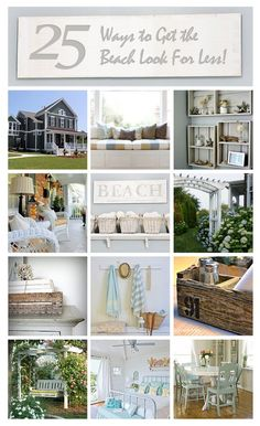 25 ways to get the beach house look for less!