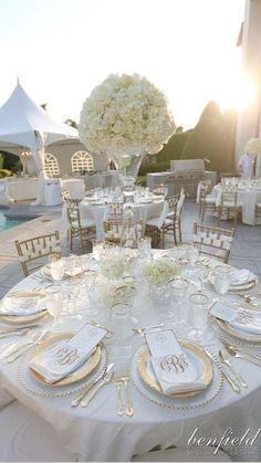 White Hydrangea Centerpieces, Wedding Table Centerpieces, White Hydrangeas, Wedding Tables, White Centerpiece, Centerpiece Ideas, Wedding Vows, Wedding Bells, Wedding Stuff