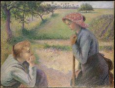 Two Young Peasant Women - Camille Pissarro