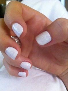 Nails...love short white nails!