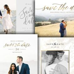 Wedding Announcement - Save The Date Card Photoshop Template - For Photographers - Photoshop Required - 4 PAK BUNDLE - 1693 Photography Templates, Save The Date Templates, Wedding Announcements, Save The Date Cards, Photographers, Dating, Photoshop, Etsy