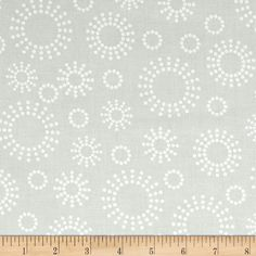 Get Back! 108'' Wide Circles White/Tint from @fabricdotcom  This 108'' wide cotton print fabric is perfect for quilt backing, curtains, duvet covers and more.  Colors include white printing on off white fabric.
