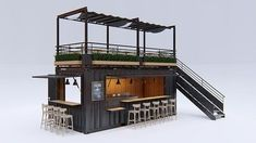 Shipping containers 427630927118482425 - shipping container cafe & restaurant Source by Container Bar, Container Home Designs, Shipping Container Restaurant, Container Coffee Shop, Converted Shipping Containers, Shipping Container Design, Container Homes, Cafe Restaurant, Restaurant Design