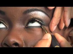 make-up tips for African American women  with dark skin tones. Love the Skin Your In. Love the eyes