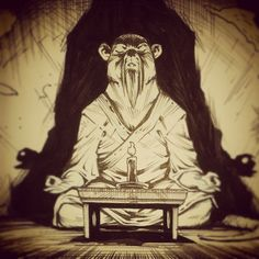 Splinter meditating by Santolouco. I can't stop staring at it.