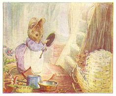 Beatrix Potter - The Tale of Two Bad Mice - 1904 - Hunca Munca Finds Pots and Pans Painting Beatrix Potter, Character Illustration, Illustration Art, Vintage Illustrations, Peter Rabbit And Friends, Storybook Characters, Woodland Creatures, Cute Pictures, Poster Prints