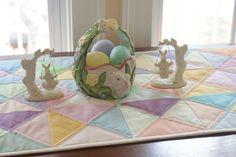 Modern Pastel Spring Easter Table Runner Home Decor Table Linen Table Decor Easter Dinner Decor Spring Home Decor Kona Pastel Cotton Solids by LuluBelleQuilts on Etsy