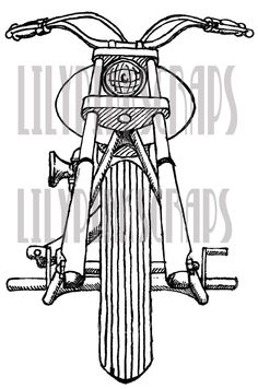 Motorcycle digital stamp - Etsy