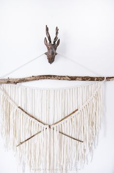 diy aztec wall hanging No home without you 2