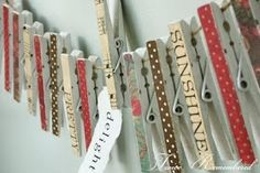 The Twice Remembered Cottage: Charming Custom Clothespins + Tutorial
