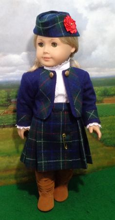 Brittanys My Navy Blue Catholic School Jumper Compatible with American Girl Dolls