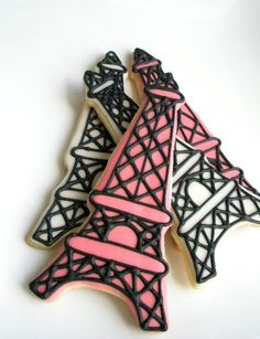 Eiffel Tower, French, Paris cookie favors Cupcakes, Cupcake Cookies, Sugar Cookies, Paris Themed Cakes, Paris Cakes, French Themed Parties, Paris Sweet 16, Sweet Sixteen Cakes, French Cake