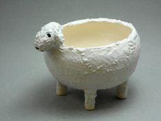 Small sheep shaped bowl for trinkets or by TamarackStoneware, $20.00