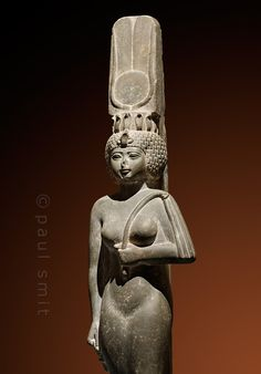 'Princess with Nubian wig -  Ankhnesneferibre was the daughter of Psamtik II, a pharaoh of the 26th dynasty (6th century BC), which was based in the Delta town of Saite.