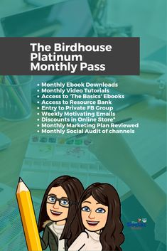 With #TheBirdhouse you can learn how to build and develop your business into the business that you dream about! 😊 #smm #onlinemembership #thesocialbirds #marketingtips #ebookdownloads #videotutorials