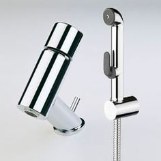 IL BAGNO ALESSI One by Oras, washbasin (bidet) faucet with Bidetta multi-purpose hand shower (8502)