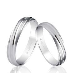 024b0803c7a1 Alianza de boda oro blanco mate-brillo 4mm (5B40266)