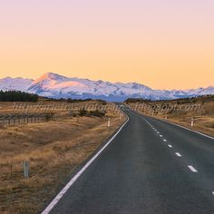 Into The Distance Twizel, New Zealand