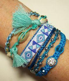 Ibiza armbanden verschillende kleuren. heidi-art.nl