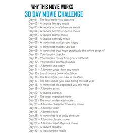 30 Days Movie Challenge