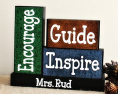 Unique Gift for Teachers Personalized Teacher by TimelessNotion