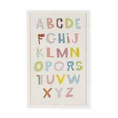 Kids Wall Decor: Kids Pretty Patterns Alphabet Wall Art in All Wall Art