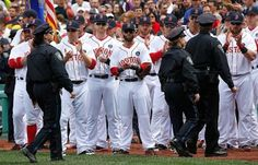 Red Sox during the National Anthem after the Marathon Bombings Born Into It In Iowa- A Red Sox Blog: The Aftermath