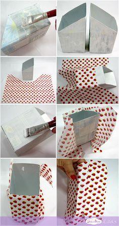 passo1 porta-treco caixinha leite