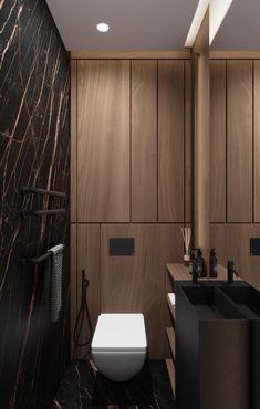 DEDE/Brutal minimalism on Behance Washroom Design, Bathroom Design Luxury, Modern Bathroom Decor, Bathroom Design Small, Luxury Homes Interior, Interior Architecture, Small Toilet Design, Unusual Bathrooms, Toilette Design