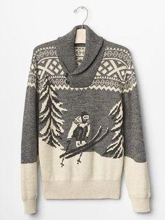 Ski shawlneck sweater | Gap