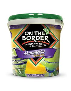 Case of 4 On The Border 64 ounce Margarita Drink Mix Buckets