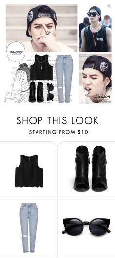 """Jackson // Got7"" by rebekahsalvadore ❤ liked on Polyvore featuring rag & bone and Topshop"