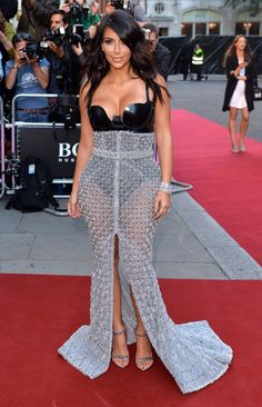 Pin for Later: Is There a Sexier Night Out Than the GQ Men of the Year Awards? Kim Kardashian There was no missing Kim in her figure-hugging embellished skirt and black bodysuit.