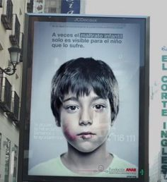 Amazing. This billboard aims to help kids in abusive situations by showing different messages to kids and adults - even when they both see it at the same time.