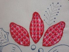 FLOWER EMBROOIDERY   Bordado Fantasia Nochebuena Rojirosa - YouTube