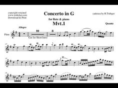 Mozart Flute Concerto in G - Orchestral Accompaniment