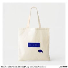 Belarus Belarusian Bison Зубр Беларусь Minimalism Tote Bag Bison, Minimalism, Reusable Tote Bags