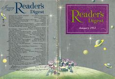 digestart:    Reader's Digest front and back cover, January 1953  Illustration: Robert H. Blattner