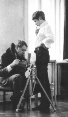 Astrid Kirchherr and Reinhart Wolf c.1960 © Klaus Voormann