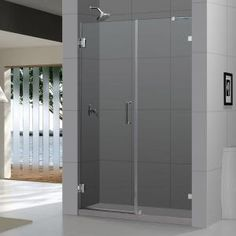 DreamLine Radiance 58 in. x 72 in. Frameless Hinge Shower Door in Chrome-SHDR-23587210-01 at The Home Depot