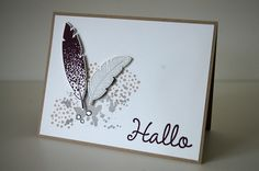 stampin up fine feathers karte