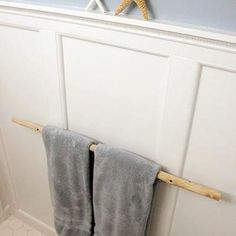 Natural Towel Rack Bathroom Pinterest Towels
