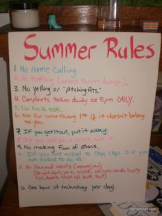 An Old-Fashioned Summer doesn't mean a free for all.  Rules, daily duties, a sample schedule for a successful summer with the kids