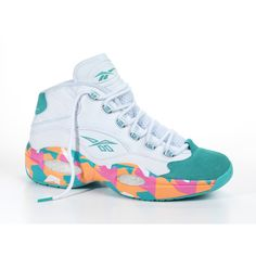 d82d48a3e50e07 UPDATE Reebok Question  White Noise  ❤ liked on Polyvore featuring shoes  Allen Iverson Shoes