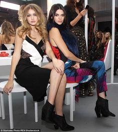Best friends Gigi and Kendall stared in theDiane Von Furstenberg presentation together du...
