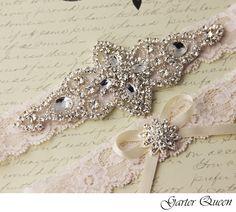 BEST SELLER Wedding Garter Bridal Garter Weding by GarterQueen, $35.00 @rjaikman  I like this... Matches my dress a bit.