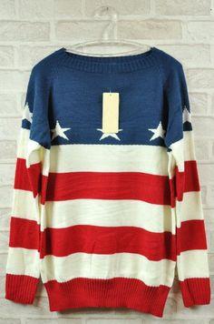 American flag sweater. 'Merica.