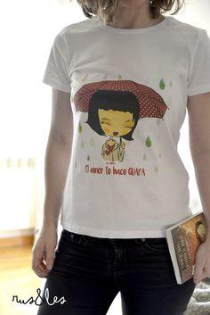 Camiseta de Amelie by Rus&Les personalizada ....es tan encantadora . Desde 16 eur www.rusyles.wix.com/Rusyles